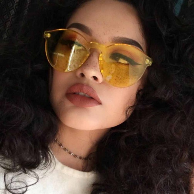 Round Sunglasses Transparent Glasses Eyewear Candy Color