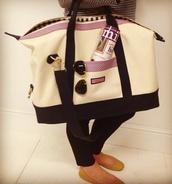bag,travel bag,cream,red,handbag,cute,stripes,navy