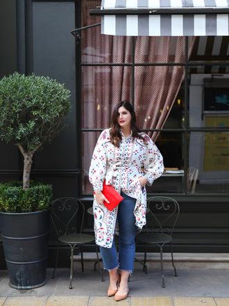 fashion foie gras blogger jeans bag clutch curvy shirt dress spring outfits
