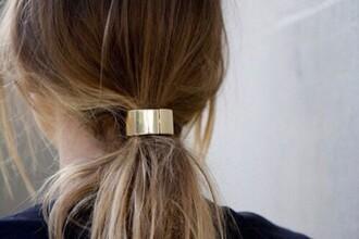 hair accessory metallic gold hair adornments