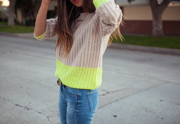 sweater lime sweater ici fashion winter sweater neon streetstyle icifashion lookbook