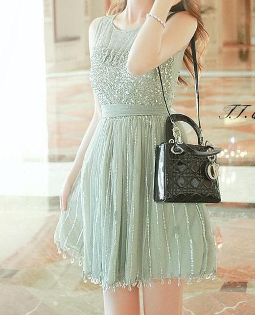 Shining rhinestone sequins dress / ianlaynedesigns