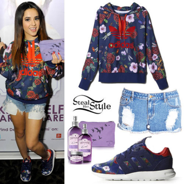 sweater pullover shorts adidas jacket adidas shoes adidas jacket denim shorts purple bag