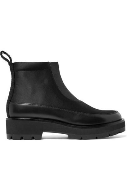 3.1 Phillip Lim ankle boots leather black satin shoes
