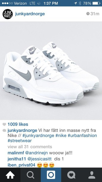 shoes whit grey nike air max