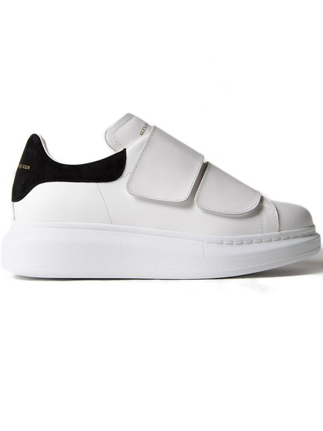 Alexander Mcqueen leather white black shoes