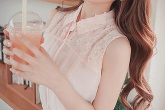 top pink pink shirt flowers cute girl pink flowers shirt with flowers kfashion fashion korean fashion koreanfashion