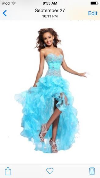 high-low dresses prom dress blue dress