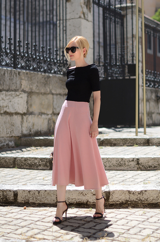 oh my vogue top skirt shoes bag sunglasses