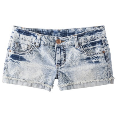 Mossimo Supply Co. Junior's Printed Denim Short : Target