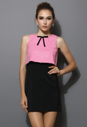 dress,sequins,colorblock,shift dress,pink,bow,blogger
