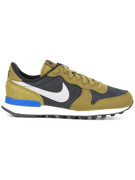 Nike women sneakers leather cotton green shoes