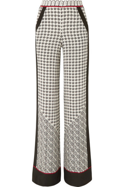 Talitha pants wide-leg pants black silk