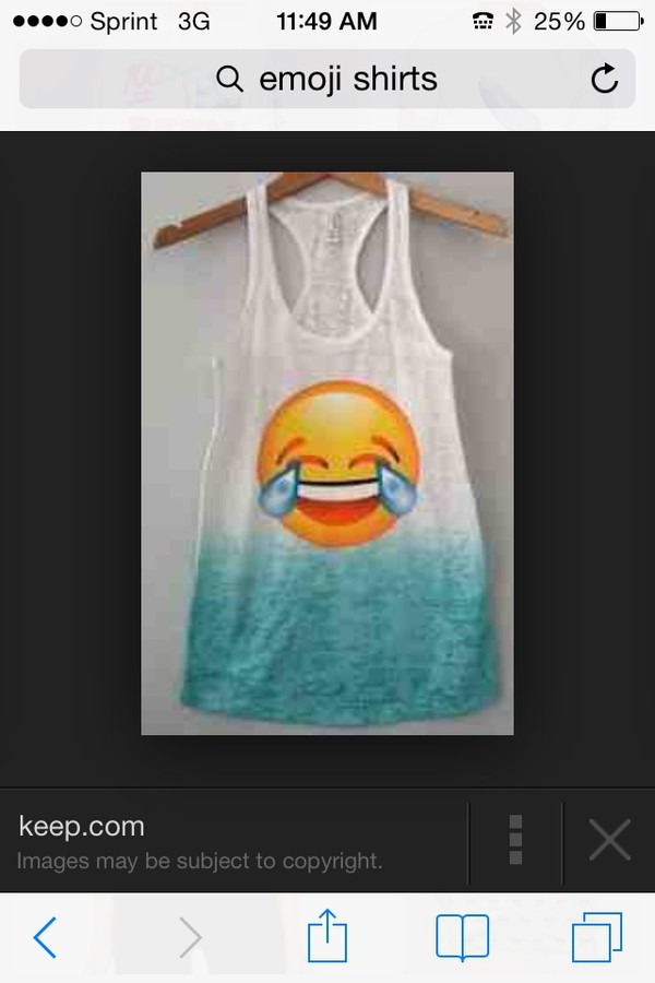 shirt emoji print ocean blue emoji shirt