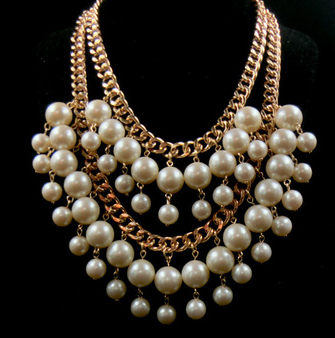 2 Layer Chunky Big Pearl Necklace
