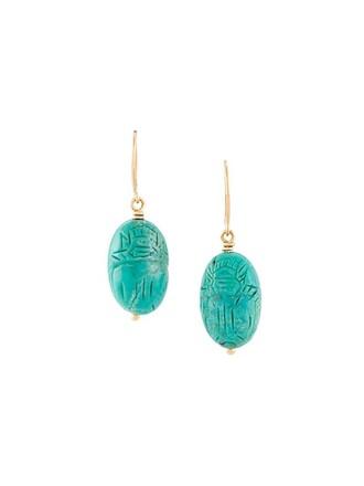 earrings turquoise green jewels