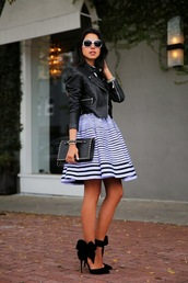 viva luxury,dress,bag,shoes,jacket,sunglasses,jewels,nail polish,coat,skirt,leather jacket,stripes