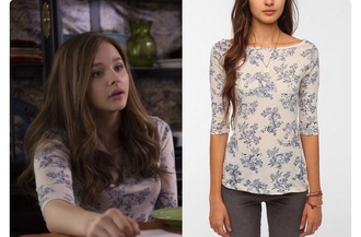 blouse if i stay movie outfit floral skirt