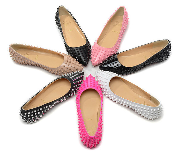shoes christian louboutin pink nude red big kiss studded flats purple big kiss studded flats christian louboutin flats detail white purple lovely pepa flatforms