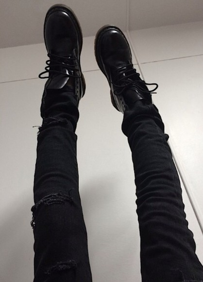 shoes black boots black boots