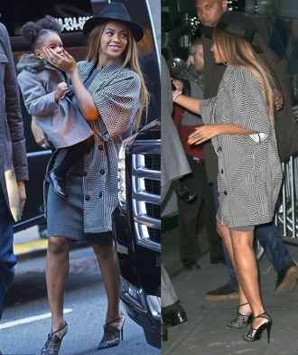 coat beyoncé fall outfits hat heels coat