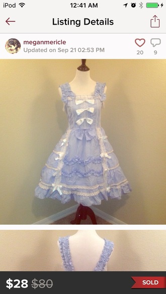 dress lolita lolita dress pastel pastel goth pastel blue dress pastel blue white bow dress white dress white blue blue dress lace lace dress white lace dress white lace blue lace dress