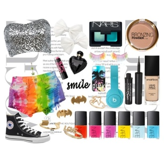 shorts rainbow rainbow shorts glitter silver glitter crop tops sparkle silver blue eyes blue light blue make-up gold ring birds arrow batman nail polish nail art nails rainbows iphone cover iphone case quote on it converse black converse black hello fashion swag summer
