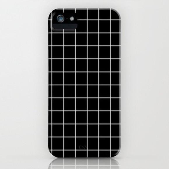 black iphone case phone case white checkered