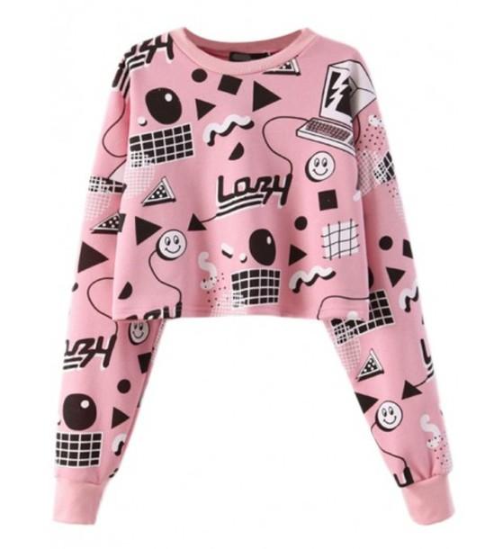 sweater pink cute