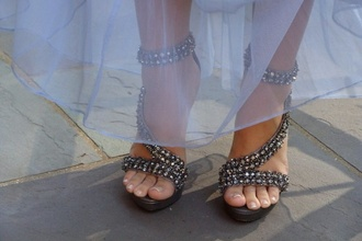 high heels grey shoes