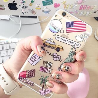 phone cover yeah bunny iphone iphone case american flag american dream transparent case new york city usa usa case california dram princess galaxy print