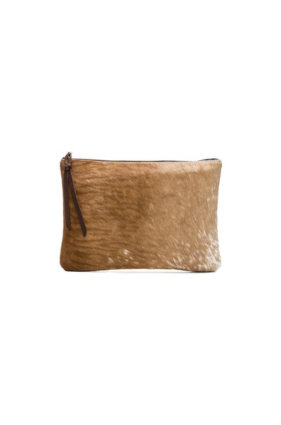 Oliveve clutch brown