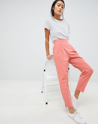ASOS DESIGN high waist tapered trousers at asos.com