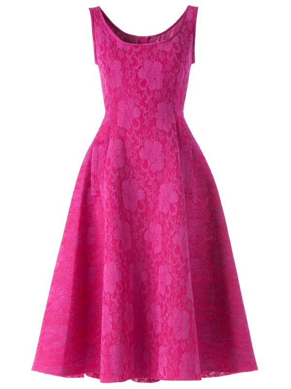dress lanvin floral dress lace dress flare pink dress