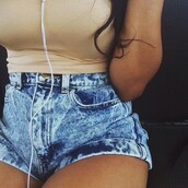 acid wash,High waisted shorts,denim,jeans,hella cute,shorts,cute,top,tan top,tan shirt,shirt,tank top,cami,camisole,tan camisole,cute shorts,acid shorts,cuffed shorts,tan tank top,cute shorts cute top,summer outfits,summer shorts,outfit,tumblr outfit,tumblr clothes,tumblr shorts,acid washed shorts