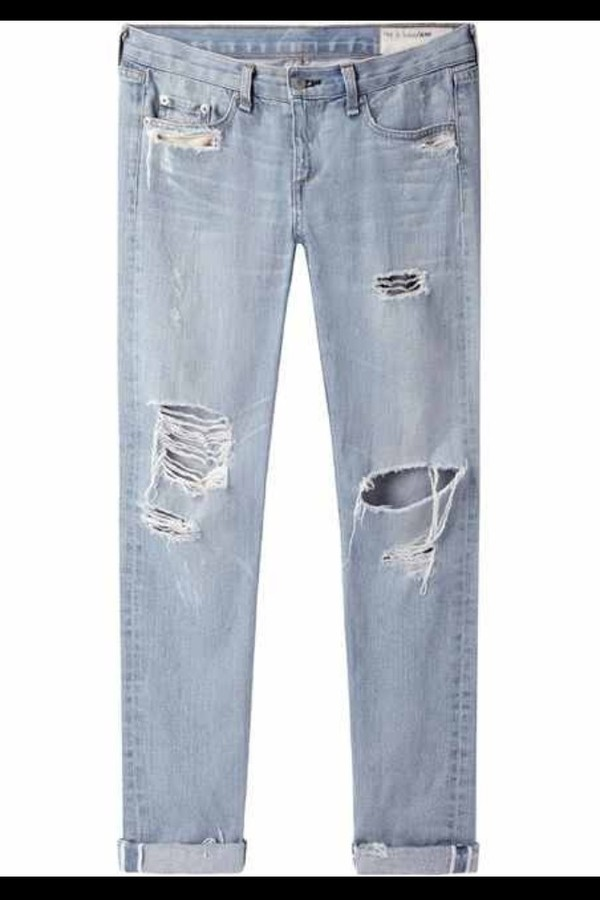 jeans boyfriend jeans jeans denim blue ripped ripped jeans distressed boyfriend jeans loose jeans