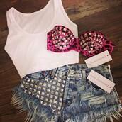 shorts,fashion,studded,dreamer,girl,festival,american,runwaydreamz,underwear