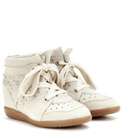 sneakers,suede,wedge sneakers,white,shoes