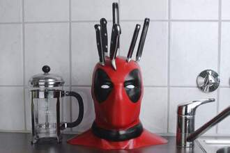 home accessory home decor knife deadpool novelty kitchen kitchen goalsk red black