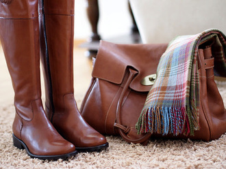 bag spring fall outfits lether bag shoes brown leather over the knee boots brown leather boots brown boots