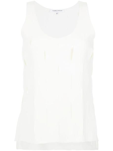 top cut out top women spandex white
