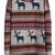 Light Khaki Deer Fair Isle Christmas Pattern Oversized Sweater - Sheinside.com