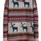 Light khaki deer fair isle christmas pattern oversized sweater - sheinside.com