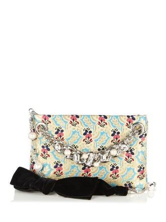 embellished pouch bag