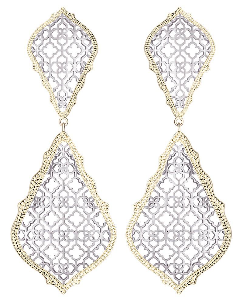 Adela Statement Earrings In Silver  Kendra Scott Jewelry