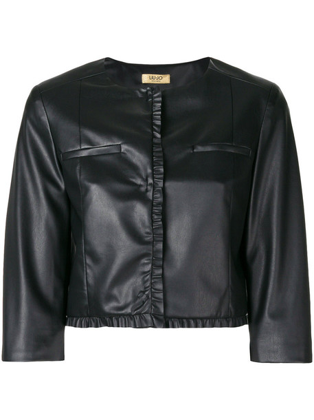 jacket biker jacket cropped women black