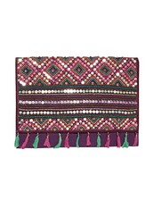 bag,beaded clutch,tribal pattern clutch,cute bags,summer bag,affordable bags,envelope clutch,pixie market,pixie market girl