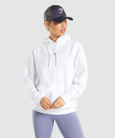 Gymshark Strobe Graphic Hoodie - White