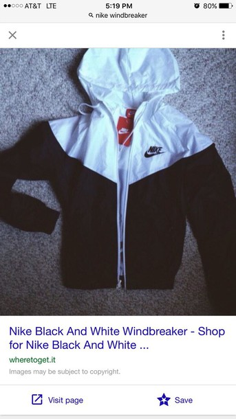 79e5d2349c jacket menswear black white windbreaker nike black and white raincoat coat  nike running shoes nike sweater