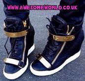 shoes,sneakers,giuseppe zanotti,wedges,wedge sneakers,chain,high tops,high top sneakers,adidas,nike roshe run